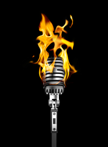 Burning Mic. Developing Your Voice. Image courtesy of stock.xchng®