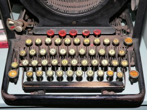 Typewriter. Close up on old keys. Image courtesy of stock.xchng®
