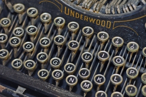 Underwood Typewriter Keys