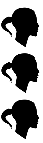 ponytail profiles. original image courtesy of stock.xchng®