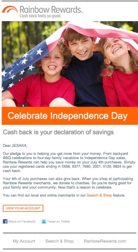 Email_Seasonal_July4 Pledge_RainbowRewards. All rights reserved.