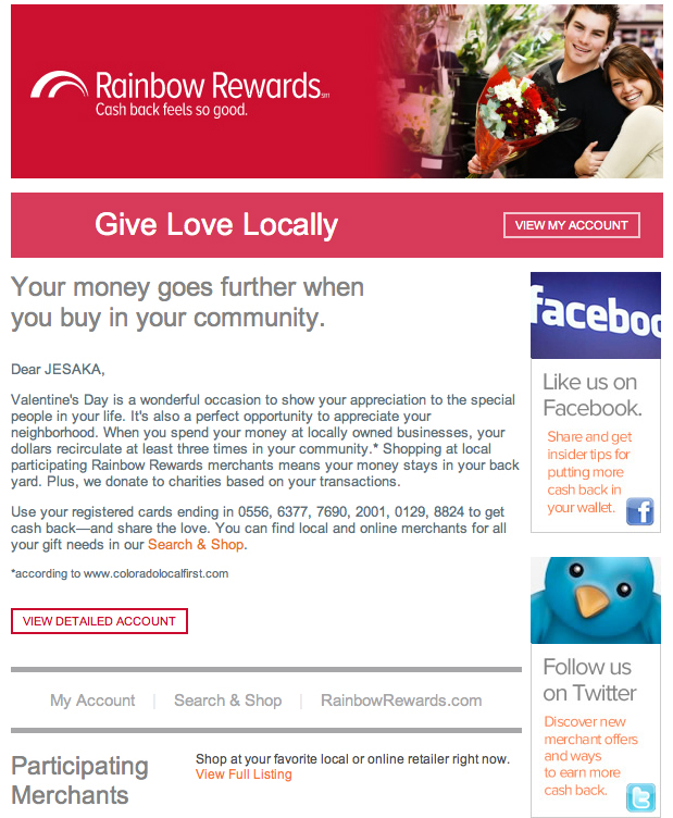 Email_Seasonal_VDay Local11_RainbowRewards. All rights reserved.
