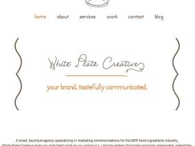 Landing Page White Plate Creative Portfolio Example